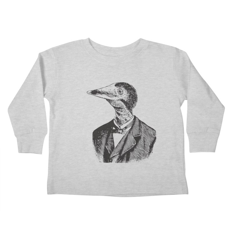 Man Bird Portrait Kids Toddler Longsleeve T-Shirt by Artist Shop of Pyramid Expander