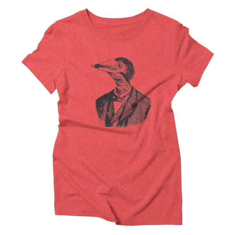 Man Bird Portrait Women's Triblend T-shirt by Artist Shop of Pyramid Expander