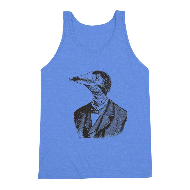 Man Bird Portrait Men's Tank by Artist Shop of Pyramid Expander
