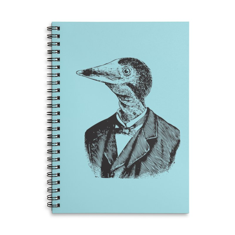 Man Bird Portrait Accessories Lined Spiral Notebook by Artist Shop of Pyramid Expander