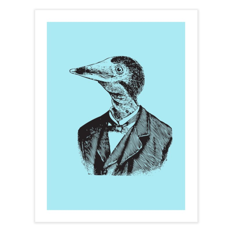 Man Bird Portrait Home Fine Art Print by Artist Shop of Pyramid Expander