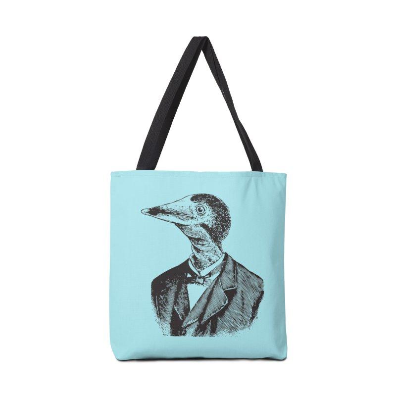 Man Bird Portrait Accessories Bag by Artist Shop of Pyramid Expander