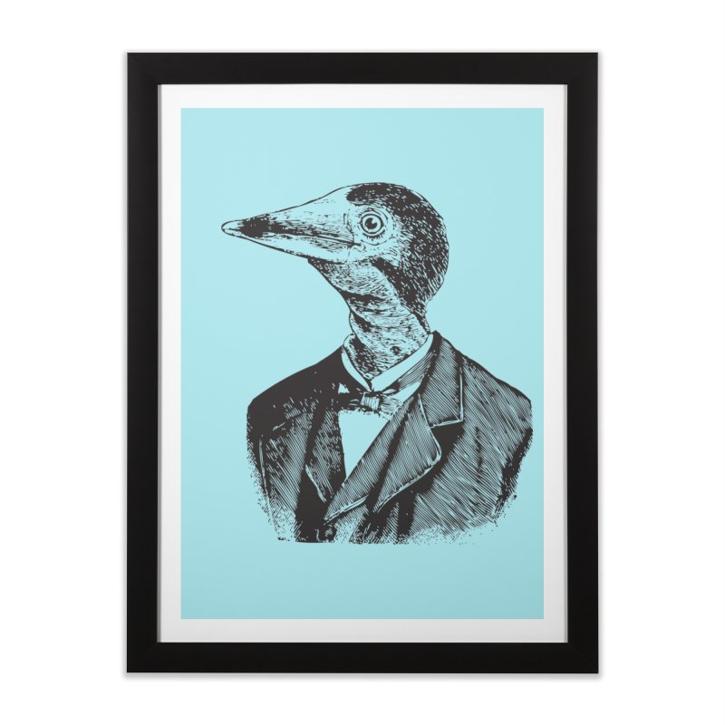 Man Bird Portrait Home Framed Fine Art Print by Artist Shop of Pyramid Expander