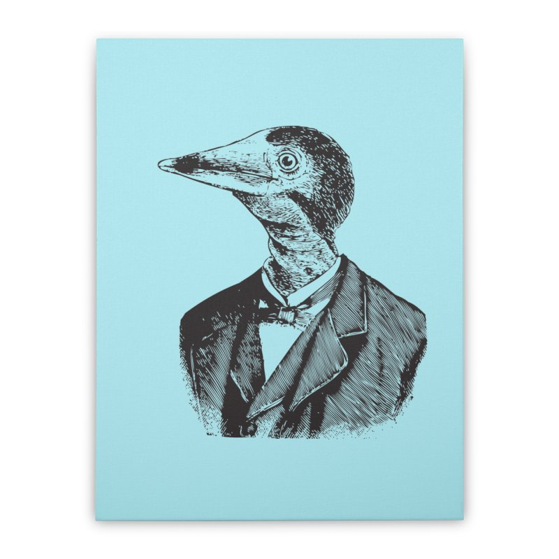 Man Bird Portrait Home Stretched Canvas by Artist Shop of Pyramid Expander