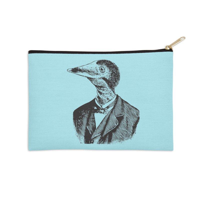 Man Bird Portrait Accessories Zip Pouch by Artist Shop of Pyramid Expander