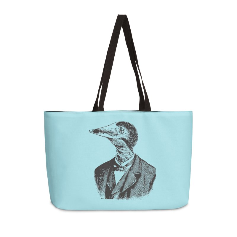 Man Bird Portrait Accessories Weekender Bag Bag by Artist Shop of Pyramid Expander