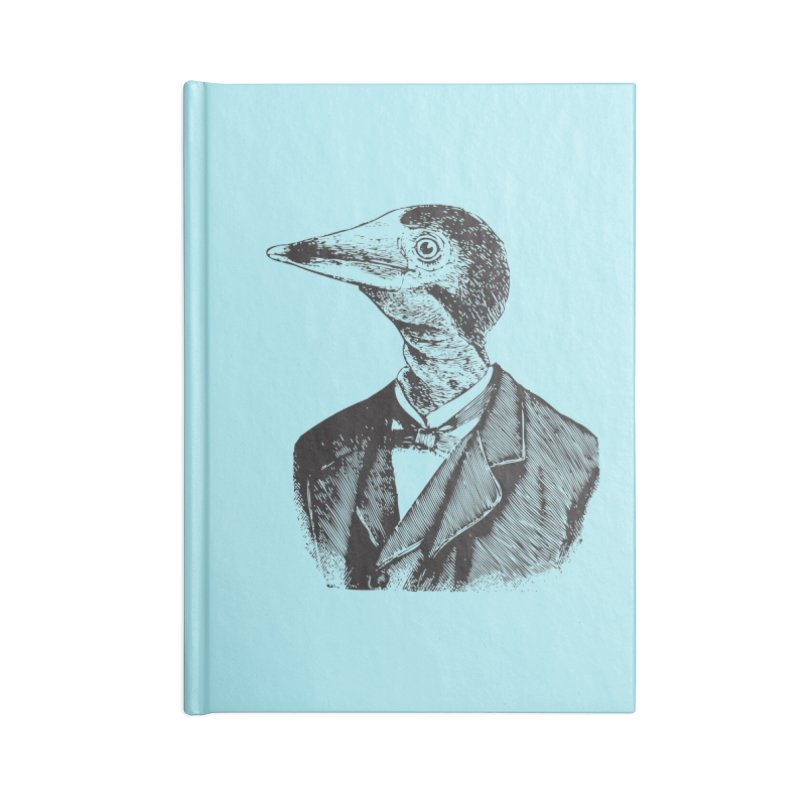Man Bird Portrait Accessories Blank Journal Notebook by Artist Shop of Pyramid Expander