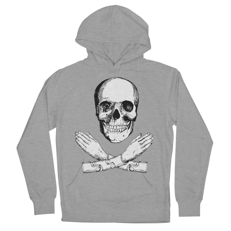 Skull and Mechanical Arms Men's Pullover Hoody by Artist Shop of Pyramid Expander