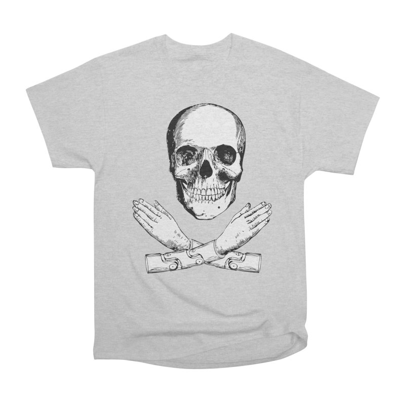Skull and Mechanical Arms Men's Classic T-Shirt by Artist Shop of Pyramid Expander