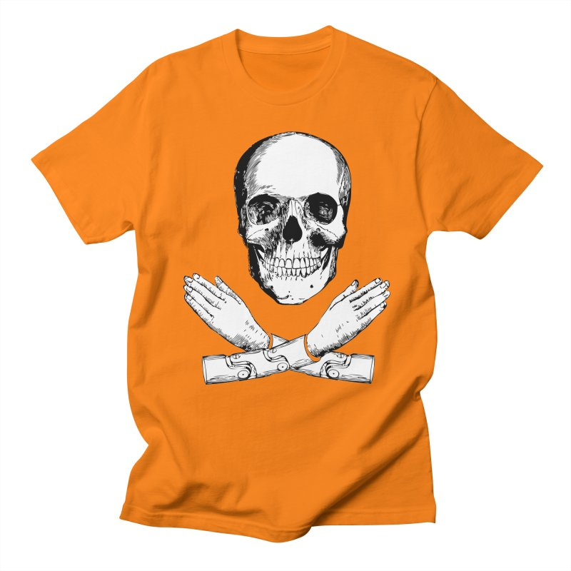 Skull and Mechanical Arms Women's Unisex T-Shirt by Artist Shop of Pyramid Expander