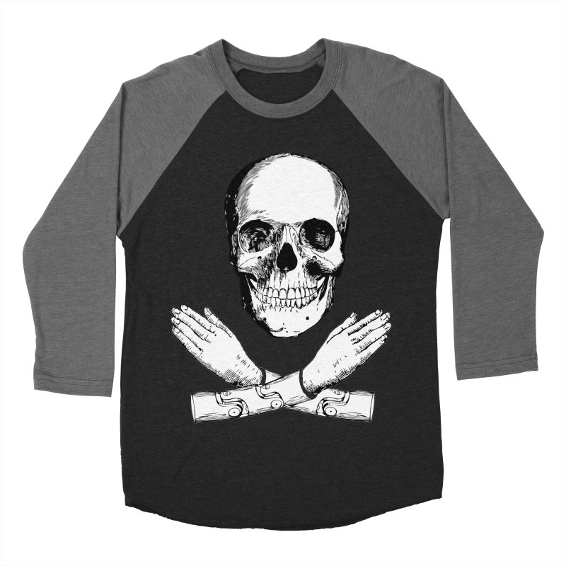 Skull and Mechanical Arms Men's Baseball Triblend T-Shirt by Artist Shop of Pyramid Expander