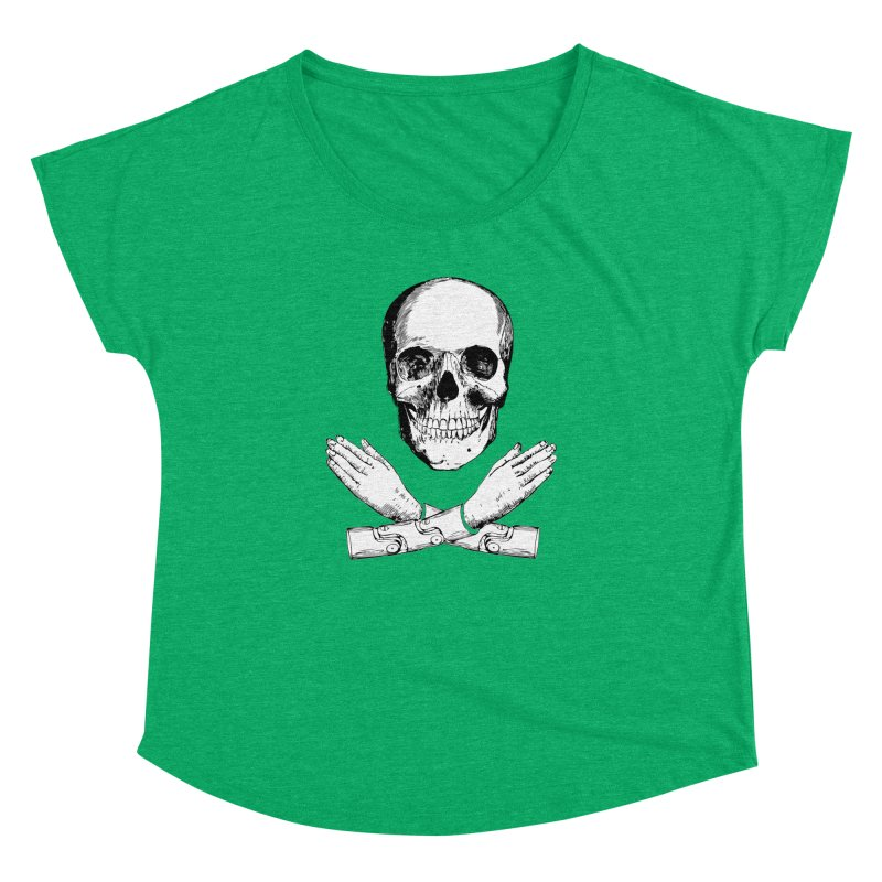 Skull and Mechanical Arms Women's Dolman by Artist Shop of Pyramid Expander