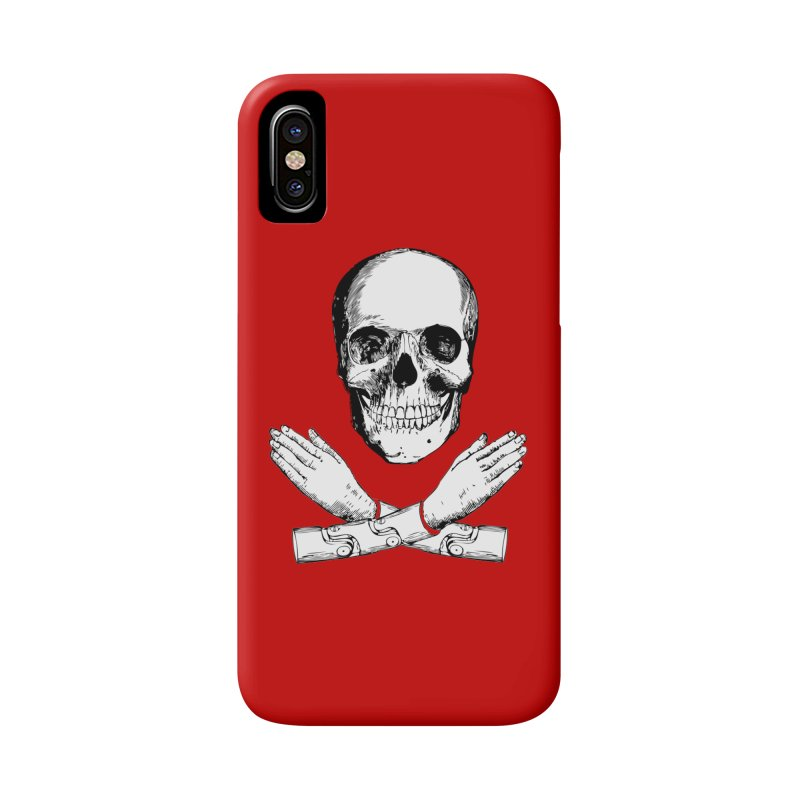 Skull and Mechanical Arms Accessories Phone Case by Artist Shop of Pyramid Expander