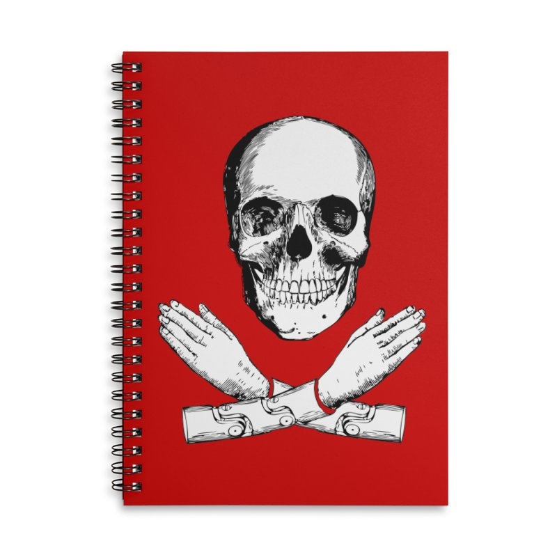 Skull and Mechanical Arms Accessories Lined Spiral Notebook by Artist Shop of Pyramid Expander