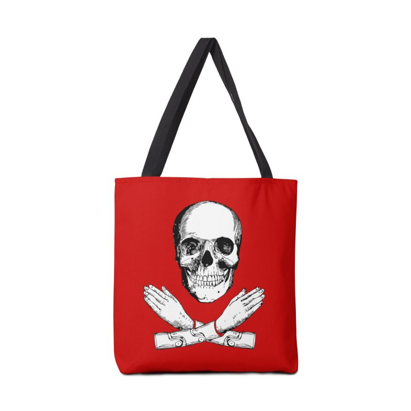 Skull and Mechanical Arms Accessories Tote Bag Bag by Artist Shop of Pyramid Expander