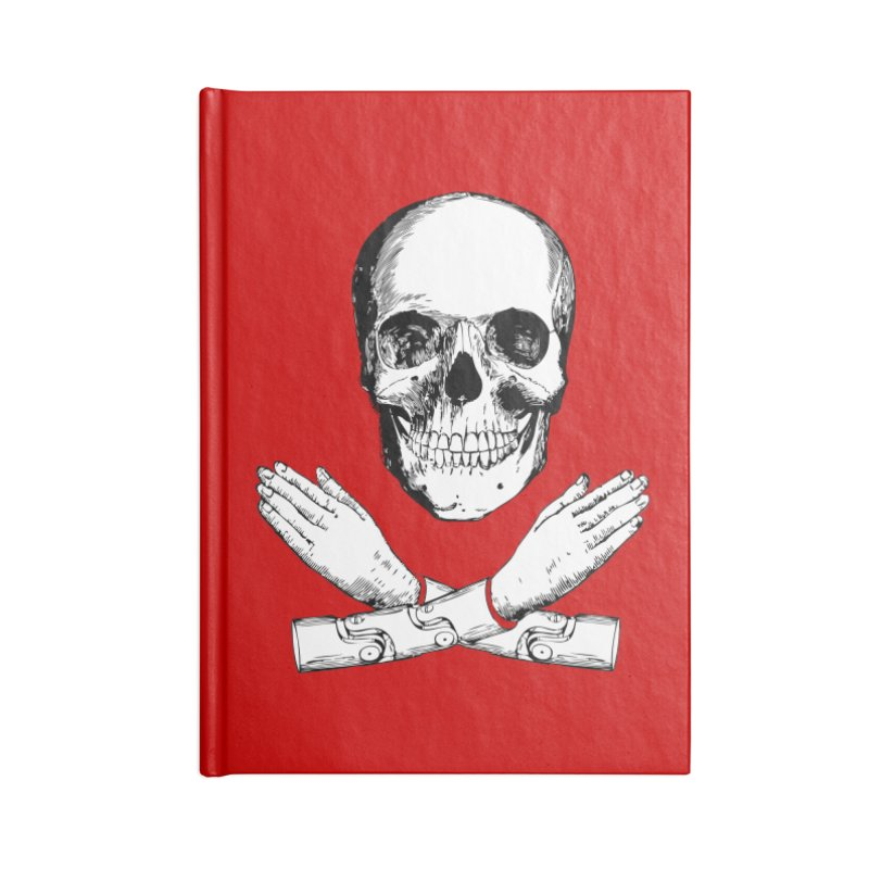 Skull and Mechanical Arms Accessories Blank Journal Notebook by Artist Shop of Pyramid Expander