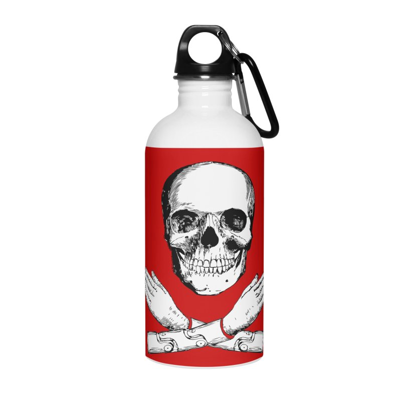 Skull and Mechanical Arms Accessories Water Bottle by Artist Shop of Pyramid Expander