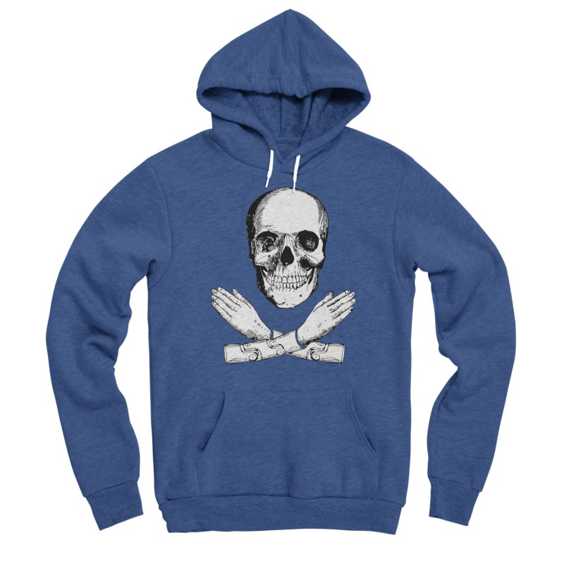 Skull and Mechanical Arms Women's Sponge Fleece Pullover Hoody by Artist Shop of Pyramid Expander