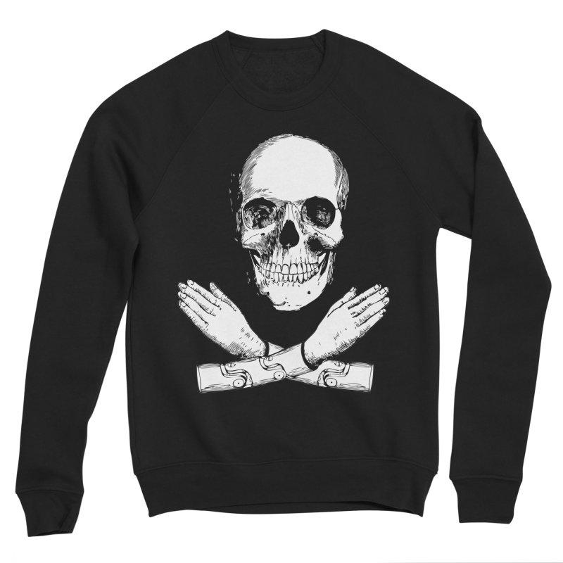 Skull and Mechanical Arms Men's Sponge Fleece Sweatshirt by Artist Shop of Pyramid Expander