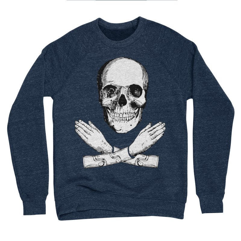 Skull and Mechanical Arms Men's Sponge Fleece Sweatshirt by Artist Shop of Pyramid Expander