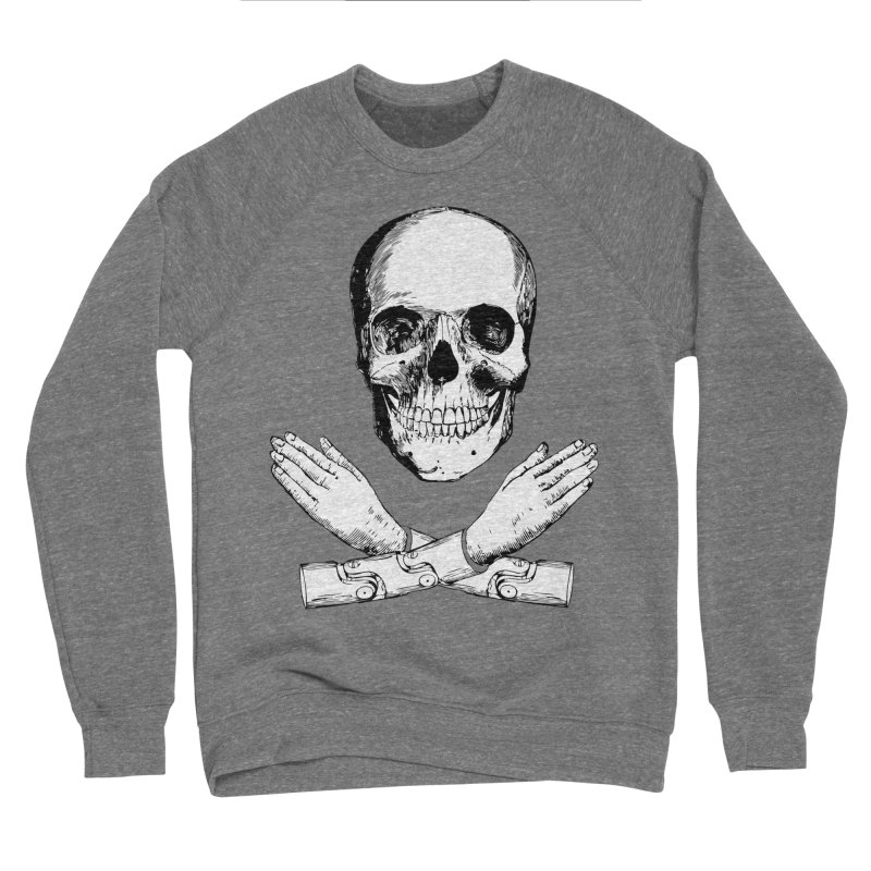 Skull and Mechanical Arms Women's Sponge Fleece Sweatshirt by Artist Shop of Pyramid Expander