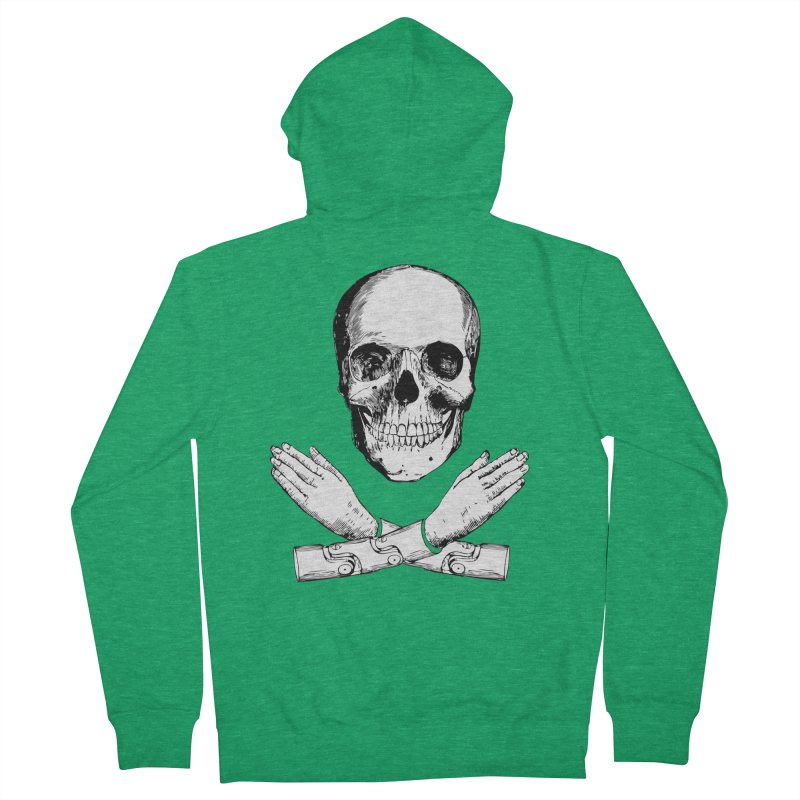 Skull and Mechanical Arms Men's Zip-Up Hoody by Artist Shop of Pyramid Expander