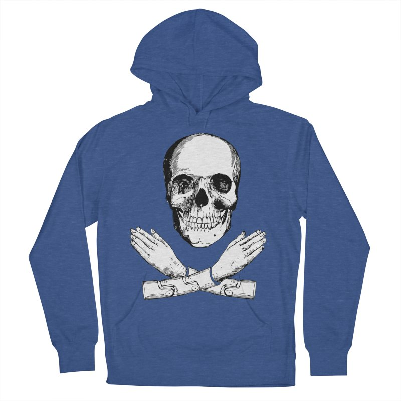 Skull and Mechanical Arms Women's Pullover Hoody by Artist Shop of Pyramid Expander