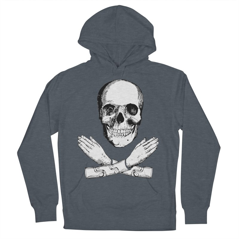 Skull and Mechanical Arms Women's French Terry Pullover Hoody by Artist Shop of Pyramid Expander
