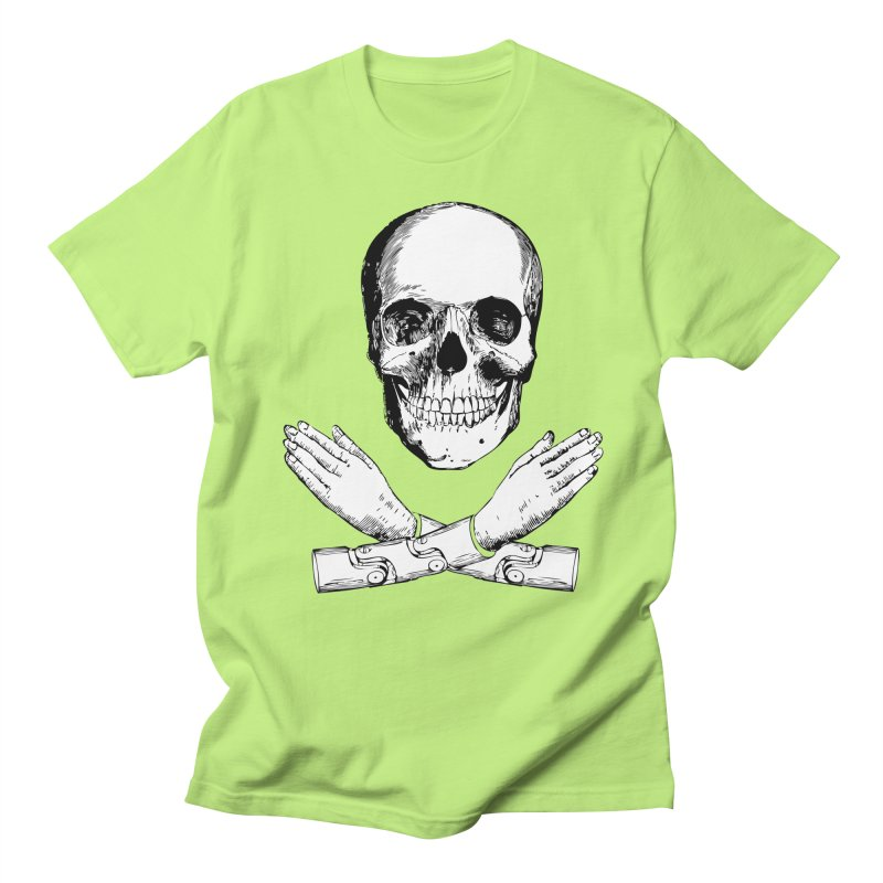 Skull and Mechanical Arms Women's Regular Unisex T-Shirt by Artist Shop of Pyramid Expander