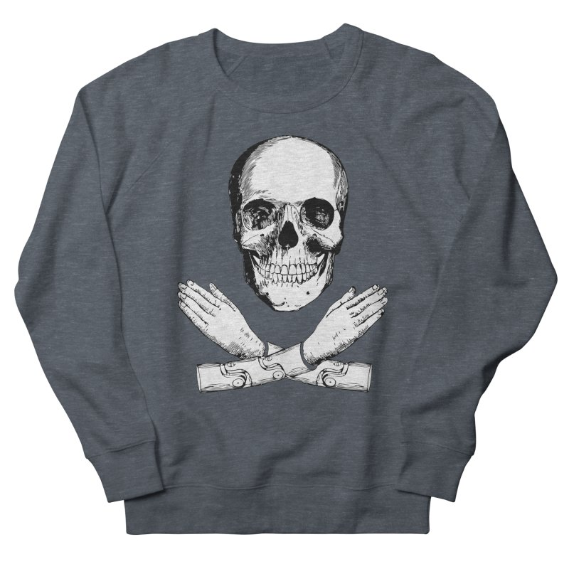 Skull and Mechanical Arms Women's Sweatshirt by Artist Shop of Pyramid Expander