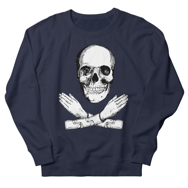 Skull and Mechanical Arms Women's French Terry Sweatshirt by Artist Shop of Pyramid Expander