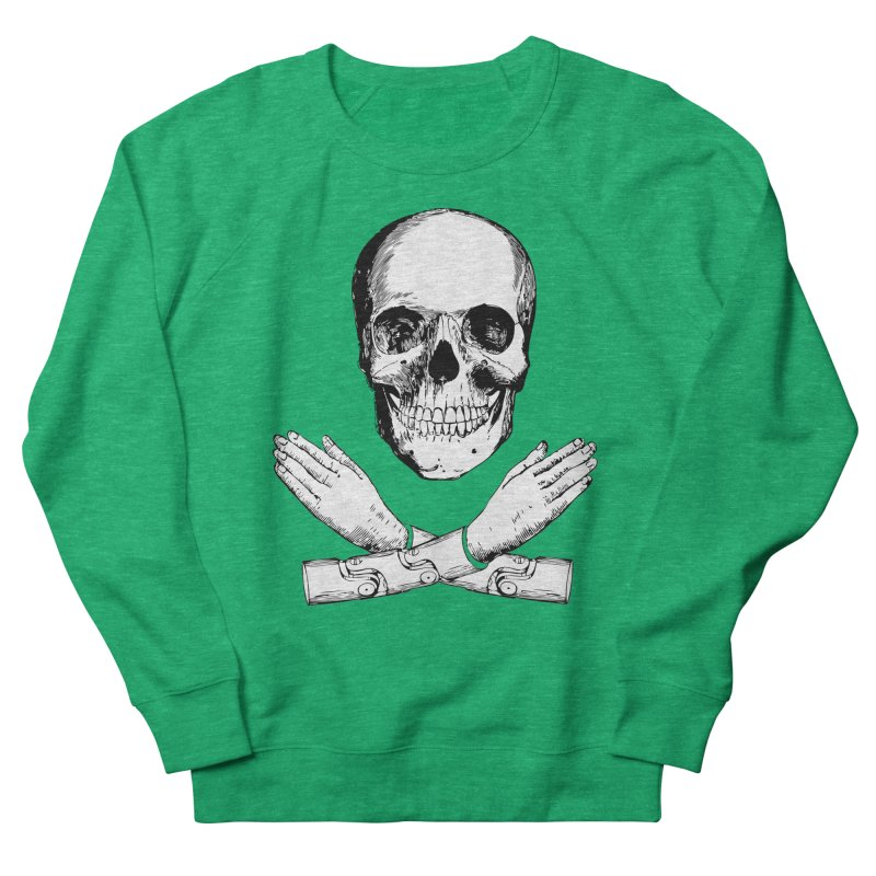 Skull and Mechanical Arms Men's Sweatshirt by Artist Shop of Pyramid Expander