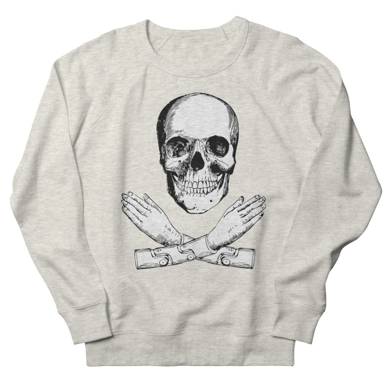Skull and Mechanical Arms Men's French Terry Sweatshirt by Artist Shop of Pyramid Expander