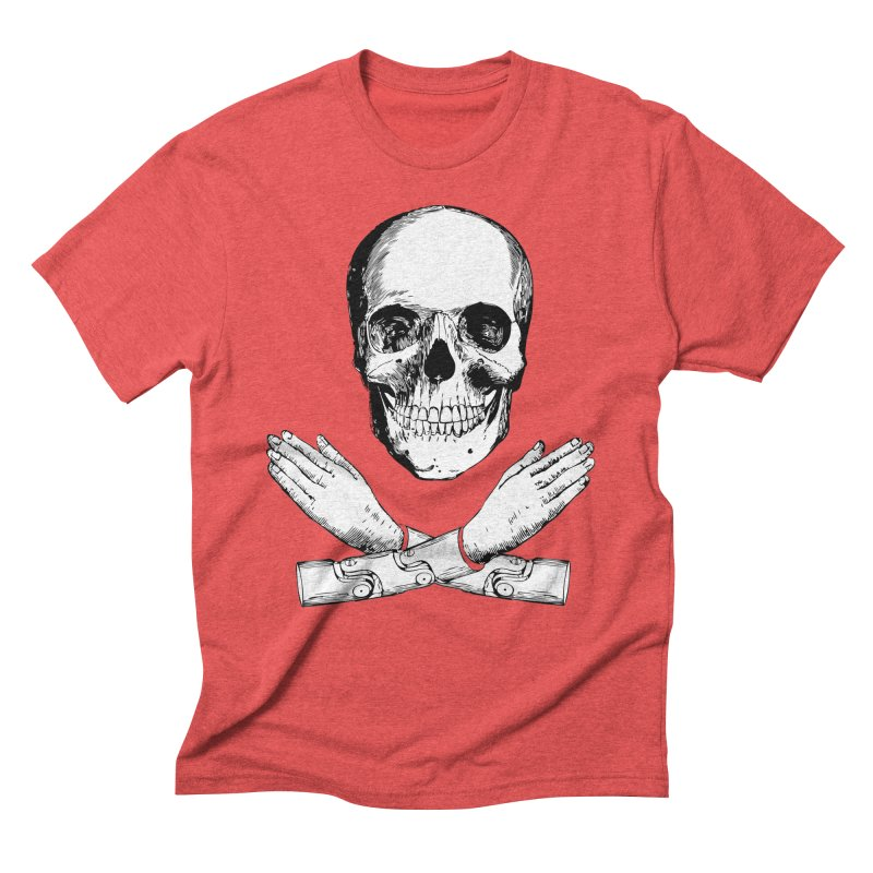 Skull and Mechanical Arms Men's Triblend T-Shirt by Artist Shop of Pyramid Expander