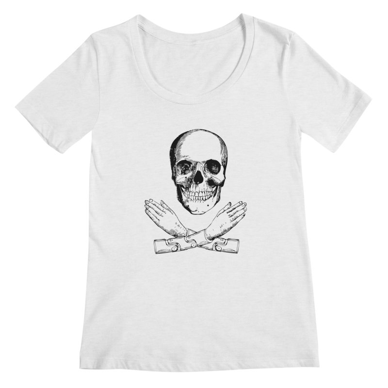 Skull and Mechanical Arms Women's Scoop Neck by Artist Shop of Pyramid Expander