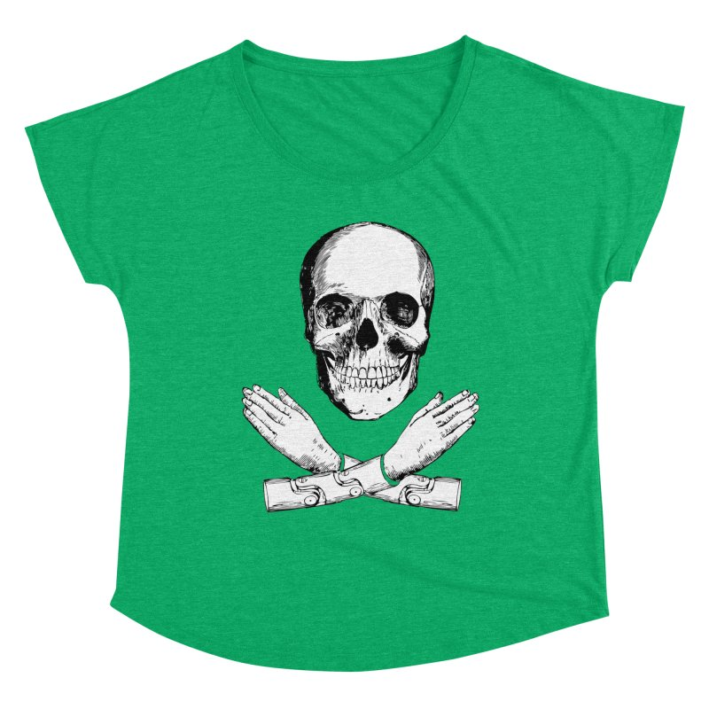 Skull and Mechanical Arms Women's Dolman Scoop Neck by Artist Shop of Pyramid Expander