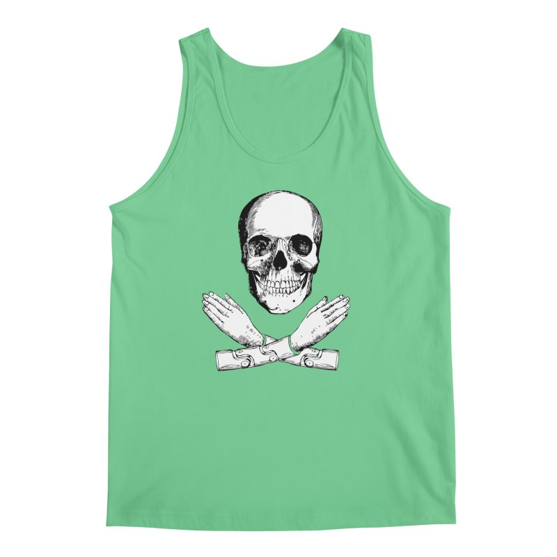 Skull and Mechanical Arms Men's Tank by Artist Shop of Pyramid Expander