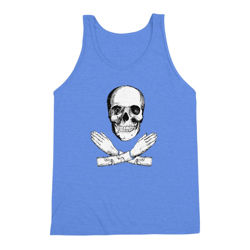 Skull and Mechanical Arms Men's Triblend Tank by Artist Shop of Pyramid Expander