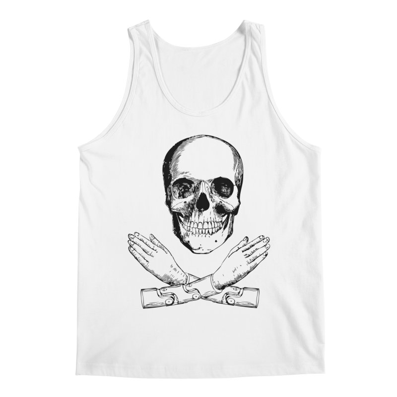 Skull and Mechanical Arms Men's Regular Tank by Artist Shop of Pyramid Expander