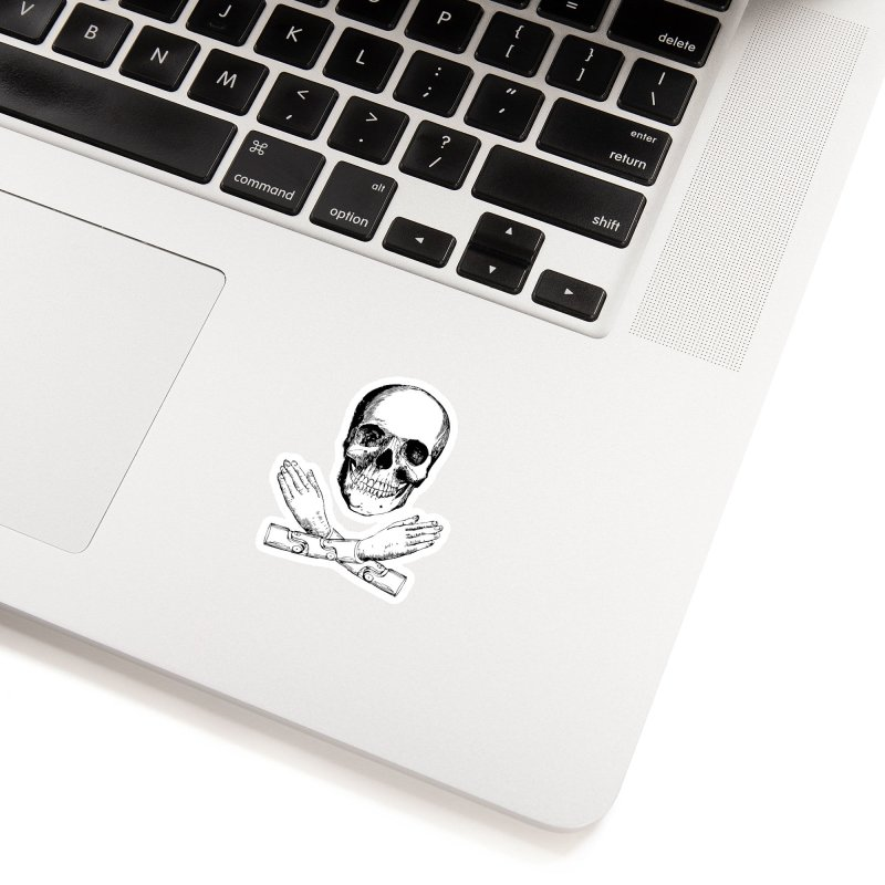 Skull and Mechanical Arms Accessories Sticker by Artist Shop of Pyramid Expander