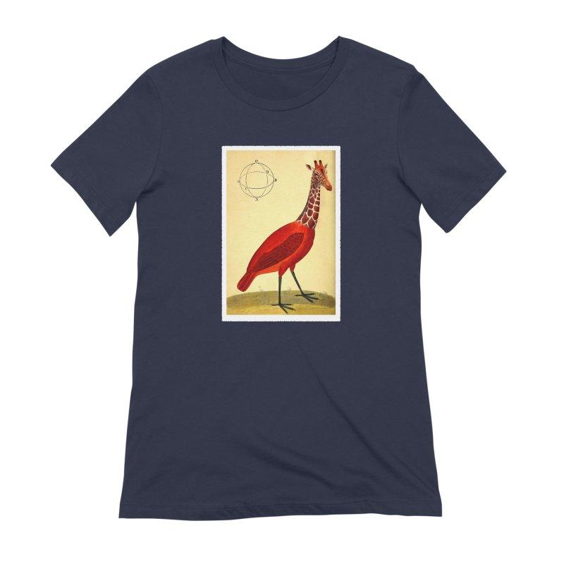 Bird Giraffe Women's Extra Soft T-Shirt by Artist Shop of Pyramid Expander