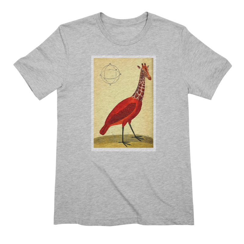 Bird Giraffe Men's Extra Soft T-Shirt by Artist Shop of Pyramid Expander