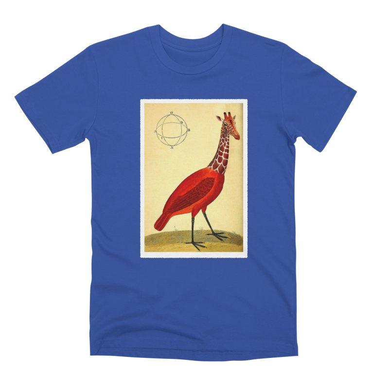 Bird Giraffe Men's Premium T-Shirt by Artist Shop of Pyramid Expander