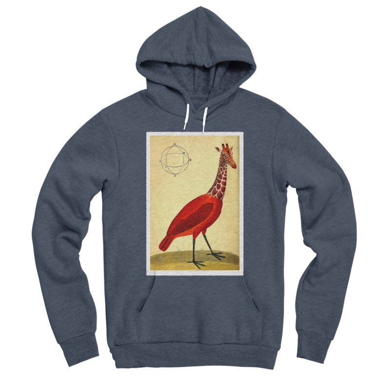 Bird Giraffe Women's Sponge Fleece Pullover Hoody by Artist Shop of Pyramid Expander