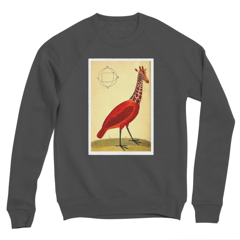 Bird Giraffe Women's Sponge Fleece Sweatshirt by Artist Shop of Pyramid Expander
