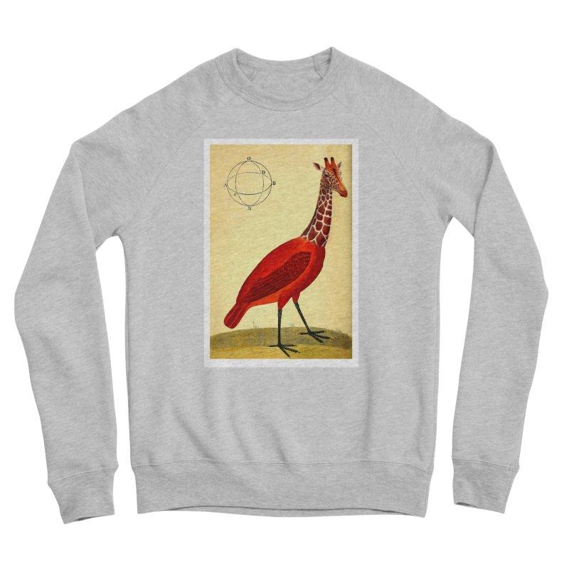 Bird Giraffe Men's Sponge Fleece Sweatshirt by Artist Shop of Pyramid Expander