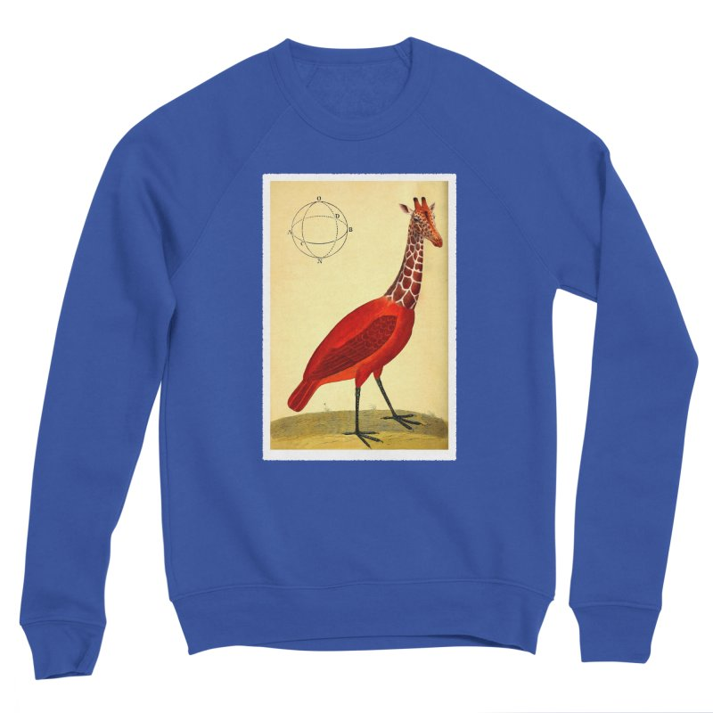 Bird Giraffe Women's Sponge Fleece Sweatshirt by Artist Shop of Pyramid Expander