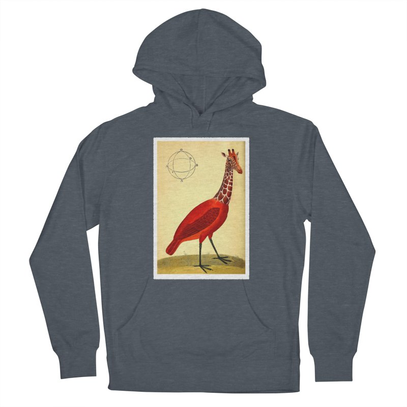 Bird Giraffe Women's Pullover Hoody by Artist Shop of Pyramid Expander