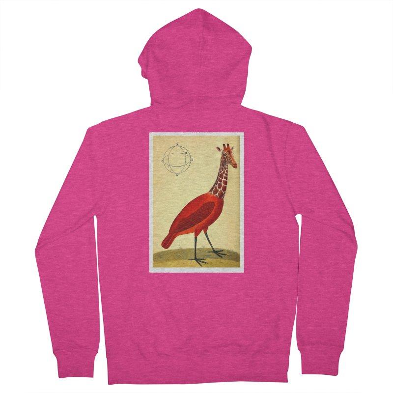 Bird Giraffe Women's Zip-Up Hoody by Artist Shop of Pyramid Expander