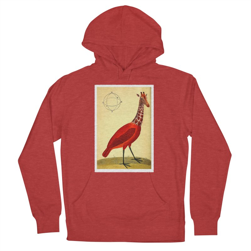 Bird Giraffe Men's Pullover Hoody by Artist Shop of Pyramid Expander